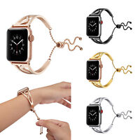 40/44mm Stainless Steel iWatch Band Women Bracelet Strap for Apple Watch 6 5 4 3