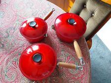 Le Creuset Ghisa padelle coperchi & 18, 20, 22cm Rosso Ciliegia