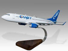 Boeing 737-800 Canjet Solid Mahogany Wood Handcrafted Airplane Desktop Model