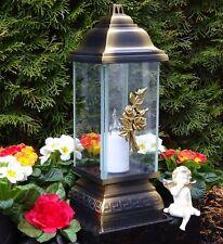 Grablaterne Grablampe Grableuchte LED Kerze Flackereffekt Batterien