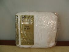 NEW IN PKG Cannon  ROYAL FAMILY WHITE  made in USA FULL SIZE BEDSKIRT