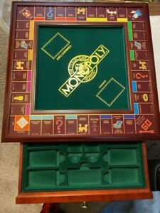 Franklin Mint Monopoly Deluxe Wood Board Game Collector's Edition, 1991