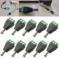 10 Pcs 12V DC Male Power Balun Connector Cable Adapter Jack Plug CCTV CAMERA UK
