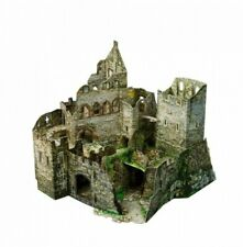 Cardboard model kit The medieval town. Castle ruins. Wargame landscape 3D Puzzle