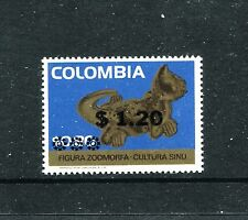 Colombia 840, MNH, Gold Animal Surcharged 1975. x23065