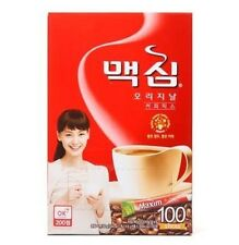 Korean Instant Coffee Mix Maxim Original Coffee 100 Sticks *fast free shipping*