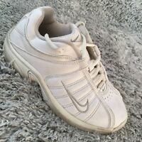 Nike Trainers 4y W Shoes 312912-111 White Leather Trainers Sneakers I