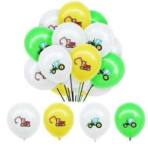 """Farm Tractor & Digger 12"""" Latex Balloons Farm & Digger Theme Party Decorations"""