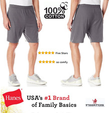 Hanes Men's Cotton Jersey Short With Pockets,Charcoal Heather,3X Big
