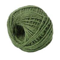 50M Green Jute Twine Ball DIY Wrap Gift Hemp Rope Cord String Ball