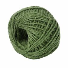 50M Green Jute Twine Ball DIY Wrap Gift Hemp Rope Cord String Ball