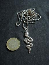 collana catena argento pendolo serpente spirale regalo ciondolo bigiotteria B