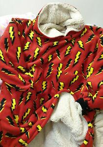 oodie Blanket Hooded Fleece Sweatshirt Oversize Unisex AC/DC Xmas Made in UK
