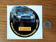 AUTOCOLLANT PIRELLI WORLD RALLY CHAMPIONSHIP 1997