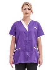 Purple carehome uniform Tunic Nurses slim uniform Asymmetric healthcare Tonia 04