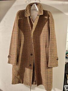 Drake's London Tweed Swing Coat Sz 38