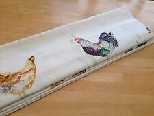 Roman Blind Voyage Chook Chicken Farmyard Linen Interlined Mechanised Track MTM