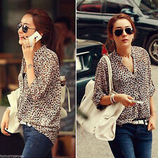 Chiffon Animal Print Casual Blouses for Women
