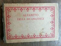 Alfabeto della Ricamatrice 1910 circa DillMont Editore libro ricamo