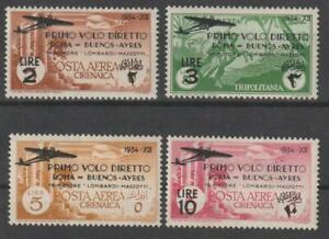 ITALIAN COLONIES CYRENAICA 1934 Airmail Rome-Buenos Aires MLH / N7192