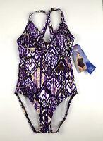Speedo Womens Swimsuit Size 8 Purple One Piece New