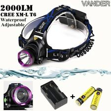 2000LM Headlamp Hands Free Flashlight Headband Lamp Head Light Camping Fishing
