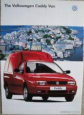 Volkswagen VW Caddy Van Brochure 1997 Model Year dated 1996 excellent condition