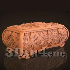 3D STL Model for CNC Router Carving Machine Box Relief Artcam aspire Cut3D
