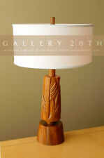 WOW! ROBSJOHN GIBBINGS SOUTH PACIFIC SOLID TEAK LAMP! HOLLYWOOD REGENCY 1950s