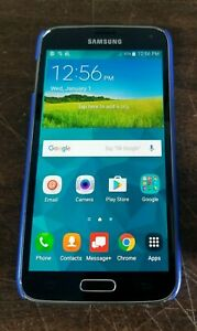 UNLOCKED VERIZON TMOBILE SAMSUNG GALAXY S5 SM-G900V 16GB BLACK