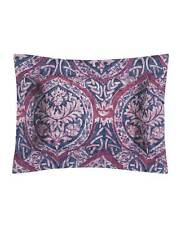 "Sferra 2195 Rowyn King Pillow Sham Navy/Berry Made in Italy $135 Nwt 21""x 36"""