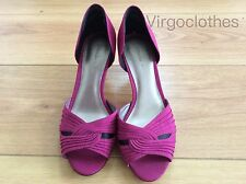 Elegant Jacques Vert Shoes, Size 5, Dark Cerise Pink & Black