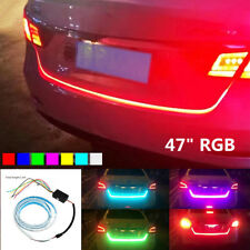 "47""RGB Car Rear Trunk Strip Light Tailgate Brake Drive Turn Signal Flow LED Lamp"