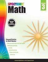 Spectrum Math Workbook, Grade 3 by