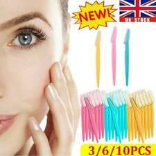 3-10Pcs Eyebrow Brow Razor Dermaplaning Painless Portable Facial Shaper Tool UK