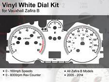 Vauxhall Zafira B (2005 - 2014) - 160mph / 8000rpm - Vinyl White Dial Kit