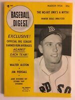 1954 Baseball Digest BOSTON Red Sox JIMMY PIERSALL No Label BROOKLYN DODGERS