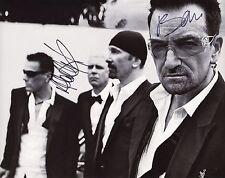 "U2 ""Bono ~ Adam Clayton"" Authentic Hand-Signed 11x14 Photo (Proof)"