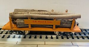 CMC T Rare G.R. Woods & Sons Log Car, Use With Lionel, MTH