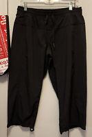 Ω Size 8 Lululemon Women Black Drawstring Cinched Hem Crop Back Zip Pocket Pants
