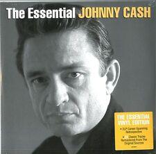 CASH JOHNNY THE ESSENTIAL JOHNNY CASH DOPPIO VINILE LP NUOVO SIGILLATO !