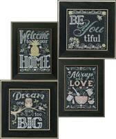 MILL HILL Counted Cross Stitch Kit CHALKBOARD QUARTET BUY 1 or ALL 4