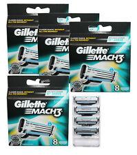 36 Gillette Mach3 Rasierklingen 4x 8er OVP = 32 + 4 Klingen im Blister ohne Verp