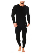 Thermal full set mens long sleeve vest top & long johns pants top&bottom trouser