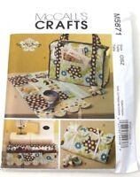 McCalls 5871 Sewing Pattern Tote Organizer Pincushion Machine Apron 4 Crafts