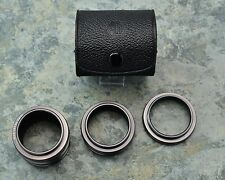 Rare Asahi Pentax Takumar M42 Rom No I II III Extension Tube Set w/ Case (#1531)