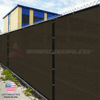 Customize 5'FT Privacy Screen Fence Brown Commercial Windscreen Shade Cover1-160