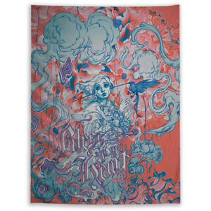 Anime Trippy Hippie Girl Tapestry Wall Hanging Mandala Indian Decor Poster