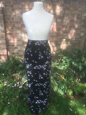 Yours Black Floral Maxi Tube Skirt Size 20 BNWT