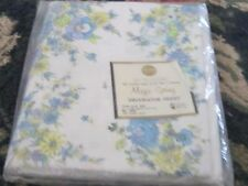 NIP NOS Magic Spring Decorator Sheet Twin Flat size blue yellow flowers chic